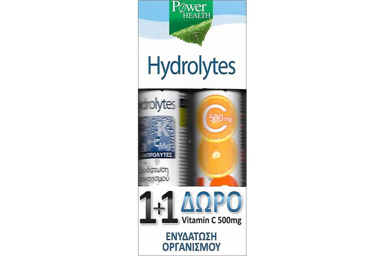 POWER HEALTH Hydrolytes 20eff. tabs + ΔΩΡΟ Vitamin C 20eff. tabs