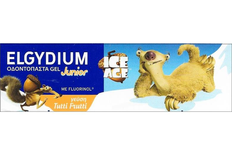 ELGYDIUM Ice Age Junior Toothpaste Gel Tutti Frutti 50ml