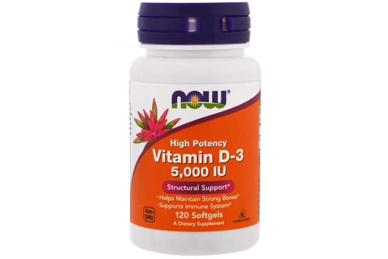 NOW VITAMIN D-3 5000 IU 120 SOFTGELS