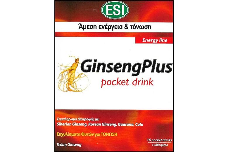 ESI Ginseng Plus Pocket Drink 16pcs