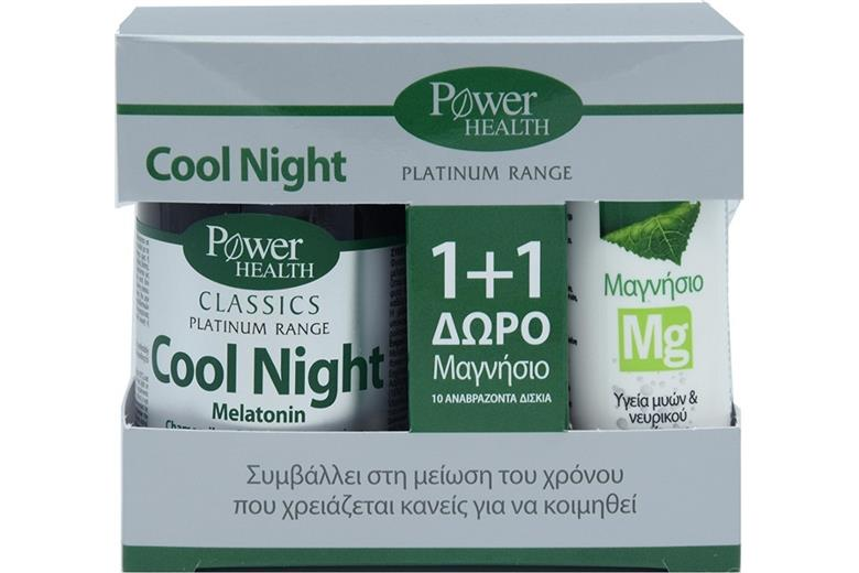 POWER HEALTH Cool Night 30caps & ΔΩΡΟ Magnesium 10eff. tabs