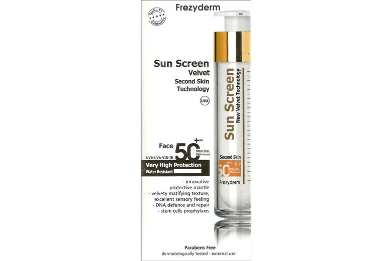 FREZYDERM Sun Screen Velvet Κρέμα Προσώπου 50+SPF 50ml