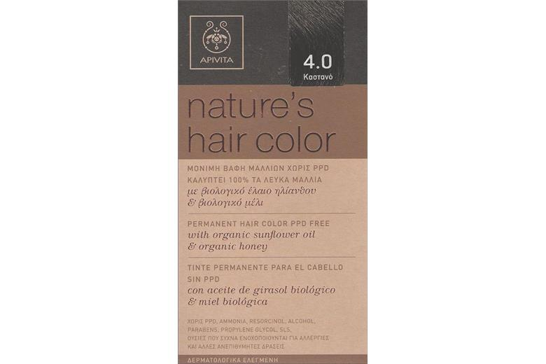 APIVITA Natures Hair Color 4.0 Καστανό 50ml
