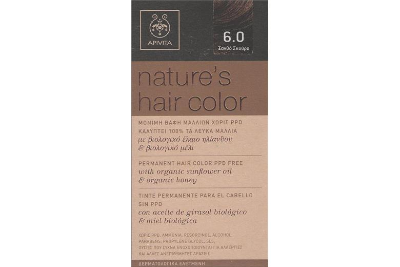 APIVITA Natures Hair Color 6.0 Ξανθό Σκούρο 50ml