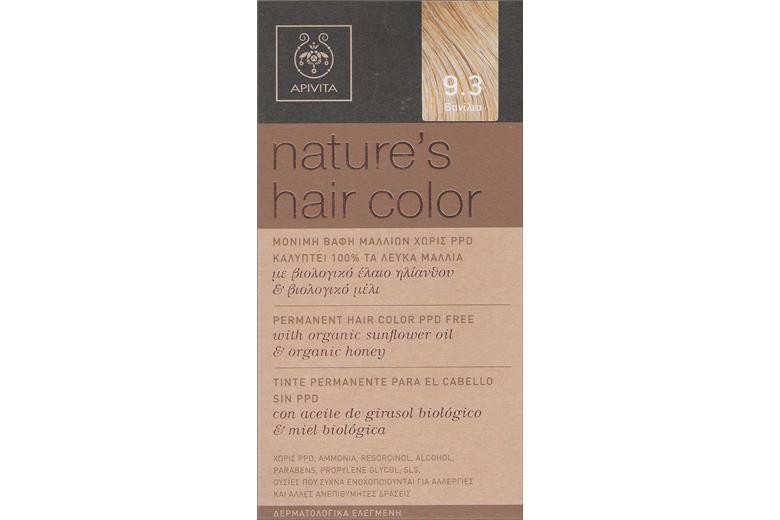 APIVITA Natures Hair Color 9.3 Vanilla 50ml CODE No  000426. prev 231a274992b