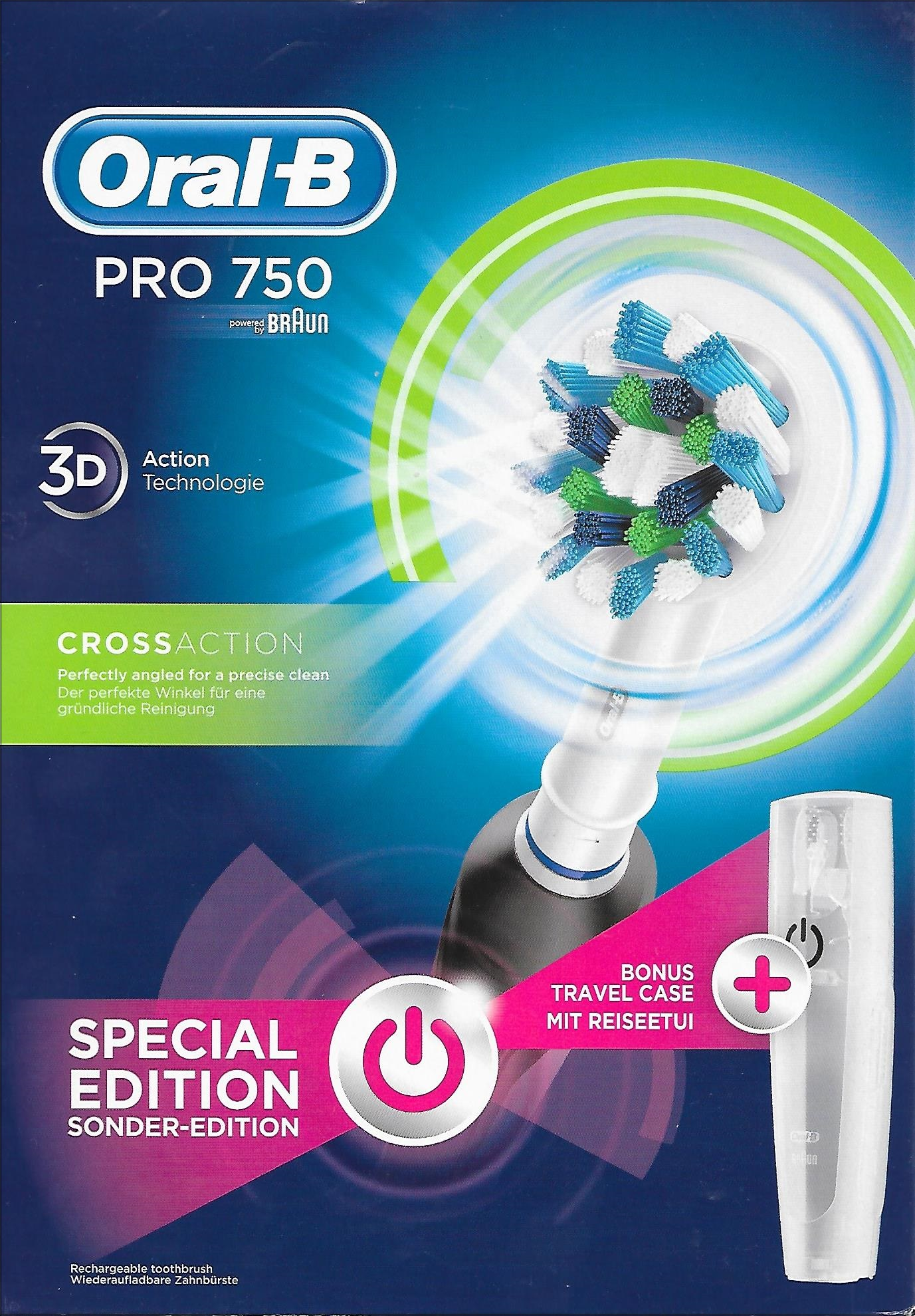 BRAUN Oral-B PRO 750 3D CrossAction Black Special Edition