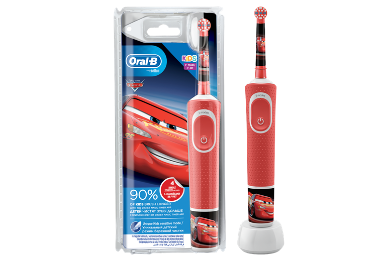 BRAUN Oral-B Stages Power Kids Disney Cars Battery Toothbrush